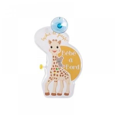 Sophie La Girafe Προειδοποιητικό Σήμα αυτοκινήτου Baby on Board με Φωτάκια