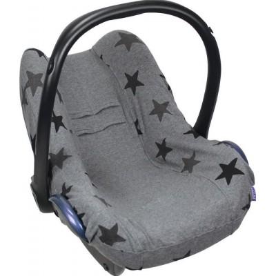 Dooky Seat Cover Βαμβακερό Κάλυμμα Καθίσματος Αυτοκινήτου Group 0+ Grey Stars
