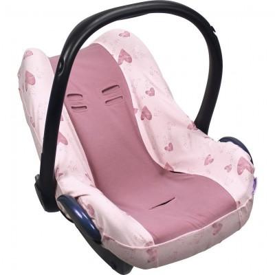 Dooky Seat Cover Βαμβακερό Κάλυμμα Καθίσματος Αυτοκινήτου Group 0+ Pink Heart