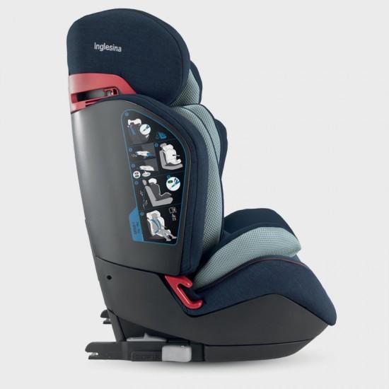 Inglesina Gemino I-Fix 1-2-3 Παιδικό Κάθισμα Αυτοκινήτου 9-36Kg Navy AV94L0NAV