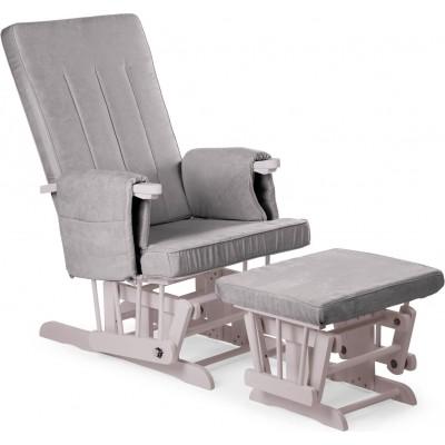 Baby Adventure Πολυθρόνα Θηλασμού με Υποπόδιο Γκρι BR70437