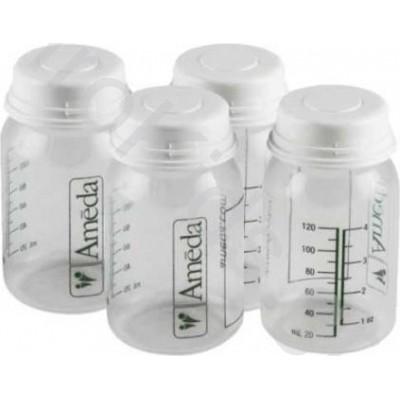 Ameda Φιάλες Φύλαξης Μητρικού Γάλακτος-Breast Milk Storage Bottles 120ml 4 Τεμ.
