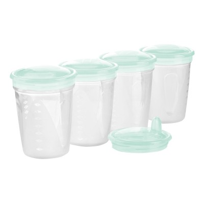 BabyOno Δοχεία Αποθήκευσης Μητρικού Γάλακτος Σετ 4 Τεμάχια BN1028