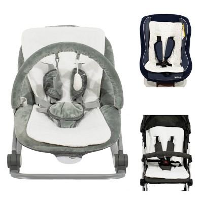 Just Baby Στρωματάκι για Καρότσι Κάθισμα Αυτοκινήτου και Ρηλάξ 3 σε 1 JB124 Grey