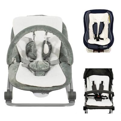 Just Baby Στρωματάκι για Καρότσι Κάθισμα Αυτοκινήτου και Ρηλάξ 3 σε 1 JB124 Pink
