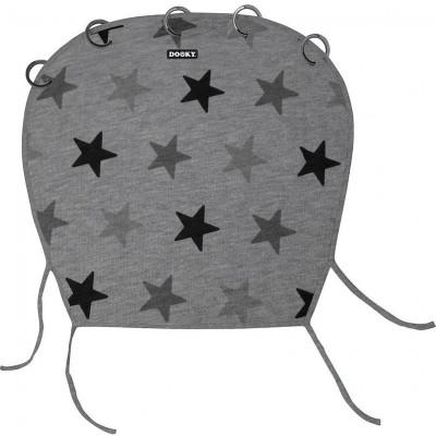 Dooky Υφασμάτινο Σκίαστρο Καροτσιού με UV προστασία Grey Stars