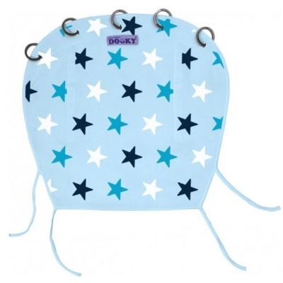 Dooky Υφασμάτινο Σκίαστρο Καροτσιού με UV προστασία Blue Stars