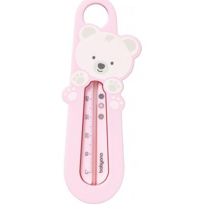 BabyOno Θερμόμετρο μπάνιου Bear Pink BN777/03