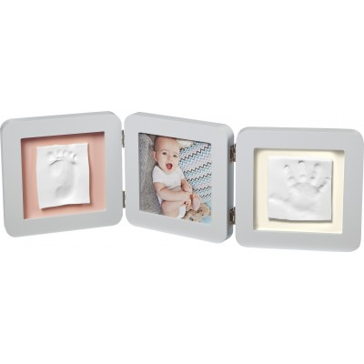 BabyArt Kορνίζα 3 Θέσεων με Αποτύπωμα My Baby Touch Double Pastel