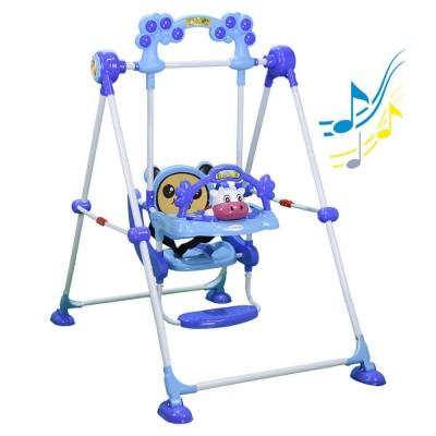 Bebe Stars Παιδική Κούνια Cow Blue 021-181