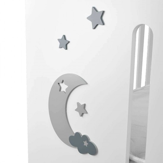 Bebe Stars Azure Βρεφικό Κρεβάτι White 450-02