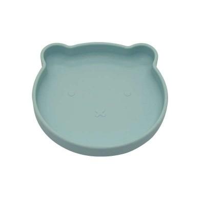 Bo Jungle B-Suction Plate Παιδικό Πιάτο Φαγητού με Αντιολισθητική Βάση Bear Blue B500720
