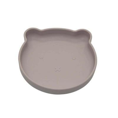 Bo Jungle B-Suction Plate Παιδικό Πιάτο Φαγητού με Αντιολισθητική Βάση Bear Pink B500710
