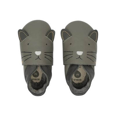 Bobux Soft sole Δερμάτινο Βρεφικό Παπούτσι Meow Charcoal