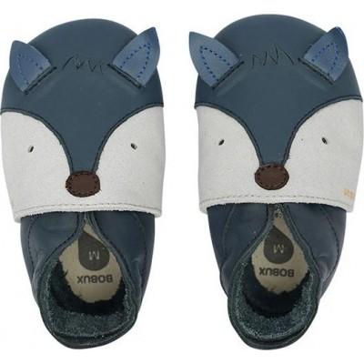 Bobux Soft sole Δερμάτινο Βρεφικό Παπούτσι Fox Navy