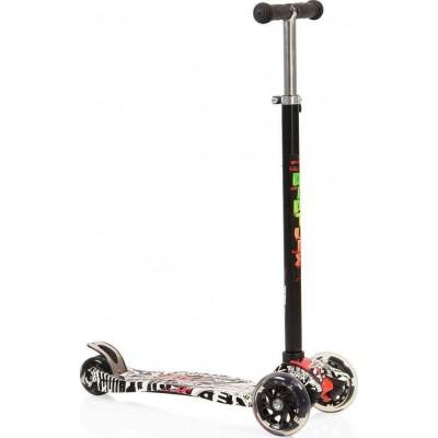 Byox Πατίνι Scooter Rapture με Φωτιζόμενες Ρόδες Black 3800146255428