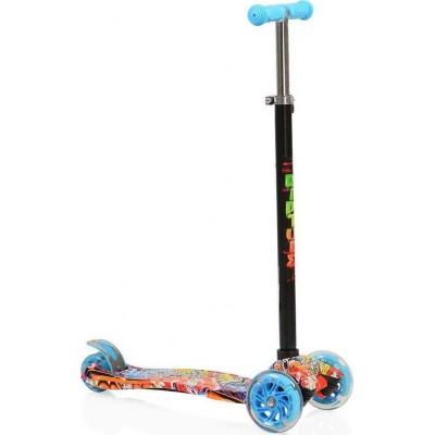 Byox Πατίνι Scooter Rapture με Φωτιζόμενες Ρόδες Blue 3800146255435