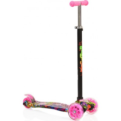 Byox Πατίνι Scooter Rapture με Φωτιζόμενες Ρόδες Pink 3800146255442