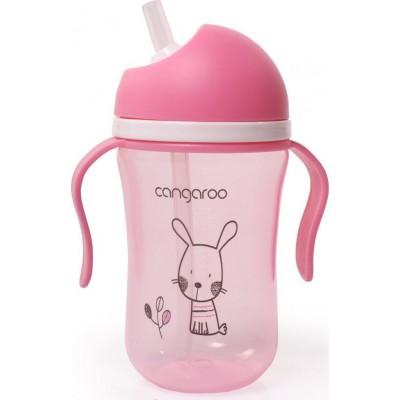 Cangaroo Εκπαιδευτικό Κύπελλο με Καλαμάκι 300ml Bunny Pink C0587 Pink