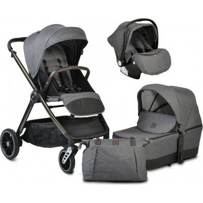 Cangaroo Macan 3 σε 1 Πολυκαρότσι Με Πορτ Μπεμπέ και Κάθισμα Αυτοκινήτου 0-13Kg Grey 3800146235314
