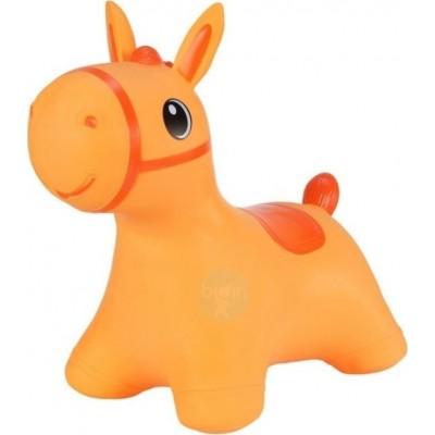 Hoppimals Jumping Horse Φουσκωτό Παιχνίδι Χοπ Χοπ Αλογάκι Orange TFF-NN184