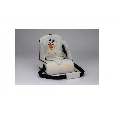 Interbaby Φορητό Καθισματάκι Φαγητού Υφασμάτινο για Καρέκλα Mickie Grey MK022