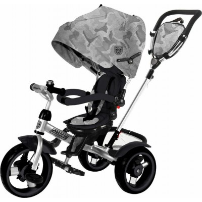 Kikka Boo Aloncy Τρίκυκλο Ποδήλατο 3σε1 με Περιστρεφόμενο Κάθισμα 360° Grey Camouflage 2020 31006020116