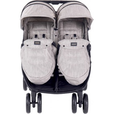 Kikka Boo Happy 2 Παιδικό Καρότσι Για Δίδυμα Κατάλληλο από τη Γέννηση 31001040002 Beige