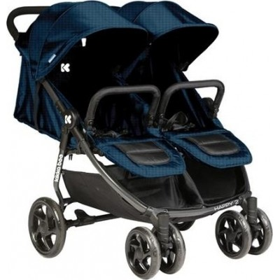 Kikka Boo Happy 2 Παιδικό Καρότσι Για Δίδυμα Κατάλληλο από τη Γέννηση 31001040004 Blue