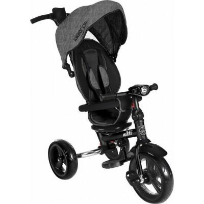 Kikka Boo Nikki Τρίκυκλο Ποδήλατο με Περιστρεφόμενο Κάθισμα και Αναδιπλούμενο Σκελετό Dark Grey Melange 2020 31006020110