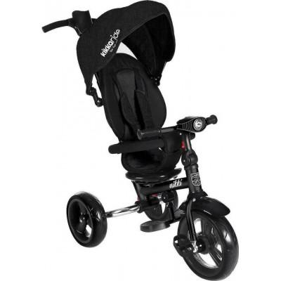Kikka Boo Nikki Τρίκυκλο Ποδήλατο με Περιστρεφόμενο Κάθισμα και Αναδιπλούμενο Σκελετό Black Melange 2020 31006020109