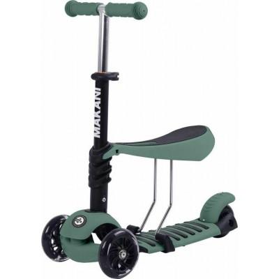 Kikka Boo Makani Παιδικό Πατίνι Scooter 3 in 1 με Κάθισμα Pastel Green 31006010089