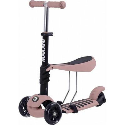 Kikka Boo Makani Παιδικό Πατίνι Scooter 3 in 1 με Κάθισμα Pastel Pink 31006010090