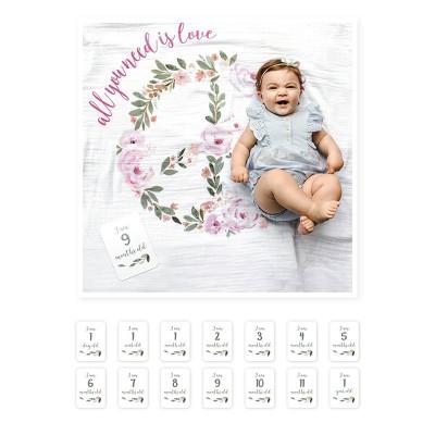 Lulujo Σετ Μουσελίνα & Κάρτες Milestone All You Need Is Love LJ593