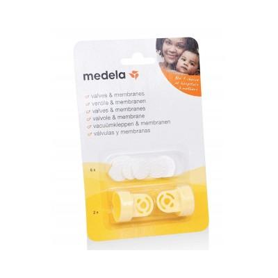 Medela Σετ Ανταλλακτικές Βαλβίδες και Μεμβράνες Θηλάστρου Multipack 800.0727