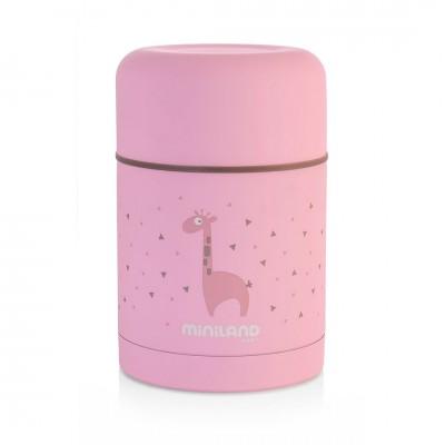 Miniland Silky Food Thermos Θερμός Φαγητού 600ml Pink ML89222