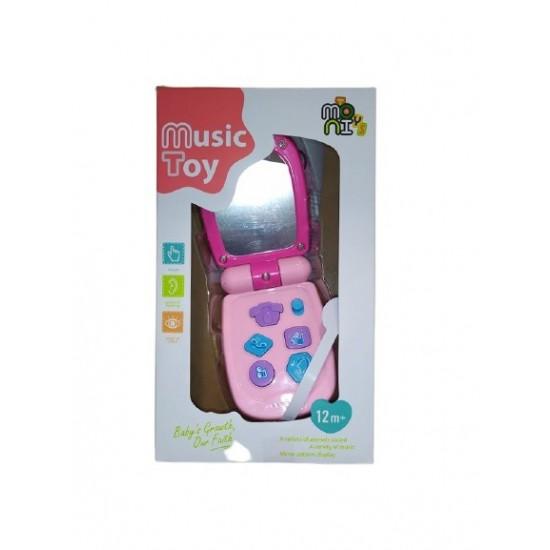 Moni Μουσικό Παιδικό Τηλέφωνο με Ροζ Καπάκι K999-95G