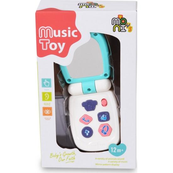 Moni Μουσικό Παιδικό Τηλέφωνο με Τιρκουάζ Καπάκι K999-95B