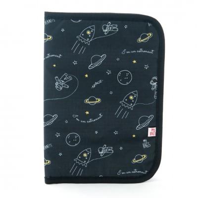 My Bag's Θήκη Βιβλιαρίου Υγείας Cosmos Black PGCOSBL