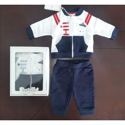 Βρεφικό Σετ Μπλούζα με Φερμουάρ - Παντελόνι Bear CAF14Y Red