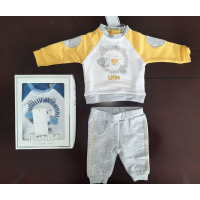 Βρεφικό Σετ Μπλούζα Παντελόνι Lion CF15Y Yellow