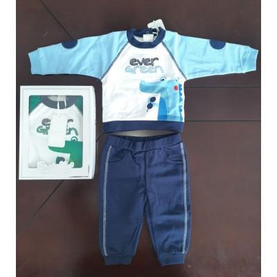 Βρεφικό Σετ Μπλούζα - Παντελόνι Ever Green CF12Y Blue