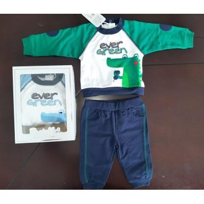 Βρεφικό Σετ Μπλούζα - Παντελόνι Ever Green CF12Y Green