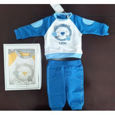 Βρεφικό Σετ Μπλούζα Παντελόνι Lion CF15Y Blue