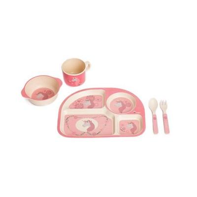 Bo Jungle Παιδικό Σερβίτσιο Φαγητού Μονόκερος B-Corn Dinner Set Unicorn Pink B.555000