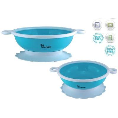 Bo Jungle B-Suction Bowl Παιδικό Μπολ Φαγητού με Αντιολησθητική Βάση B570020 Turquoise