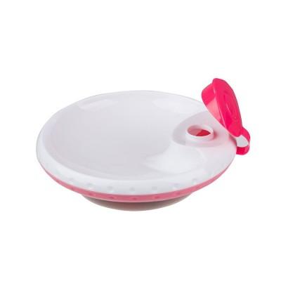 BabyOno Μπολ που διατηρεί ζεστό το φαγητό με βεντούζα Ροζ1070