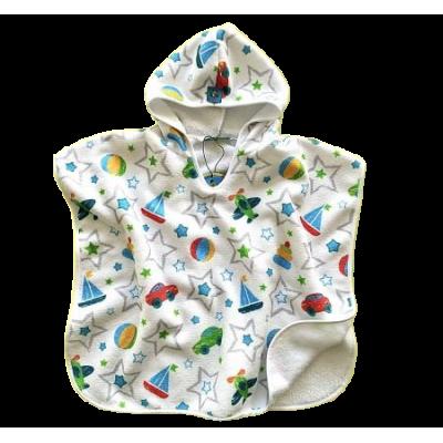 Tortue Παιδική Πετσέτα Πόντσο Θαλάσσης White Stars S1-119-050
