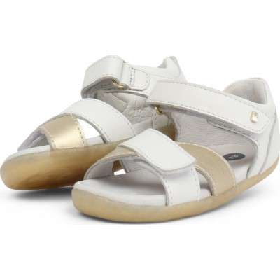 Bobux Step up Sail Βρεφικά Σανδάλια White & Misty Gold