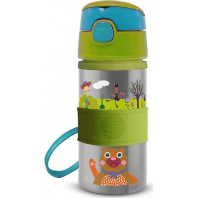 Oops Παιδικό Ανοξείδωτο Μπουκάλι Με Καλαμάκι Forest 400ml 41005-10
